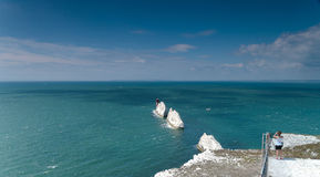 The needles, isle of wight. The Needles Rocks and Lighthouse on the Western tip of the Isle of Wight royalty free stock photography
