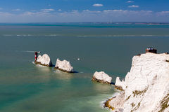 The Needles Isle Of Wight England UK Stock Photo
