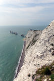 The Needles Isle of Wight landmark by Alum Bay Royalty Free Stock Photo