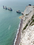 The Needles Isle of Wight landmark by Alum Bay Stock Images