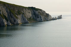 The Needles & Lighthouse. The Needles and Lighthouse , Isle of Wight Stock Photos