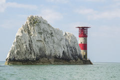 The Needles Lighthouse on the Isle of Wight Stock Photos