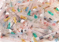 Needles pile royalty free stock images