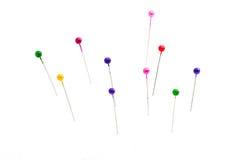Needles and pinheads Stock Photos
