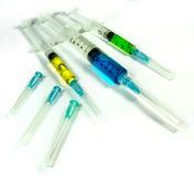 Needles and syringe Royalty Free Stock Photos