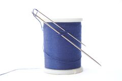 Needles and thread Stock Photography