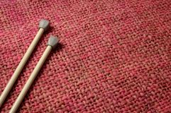 Needles and wool Royalty Free Stock Image