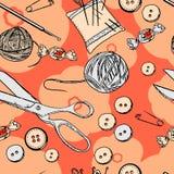 Needlewoman set Obrazy Stock