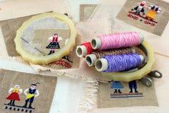 needlework руки Стоковое Изображение RF