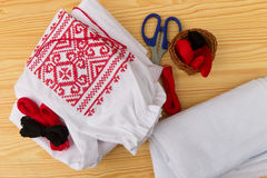 Needlework accessories Royalty Free Stock Photography