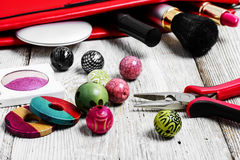 Needlework beading pliers Stock Photos