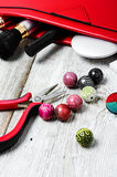 Needlework beading pliers Royalty Free Stock Photography