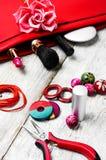 Needlework beading pliers Stock Photo