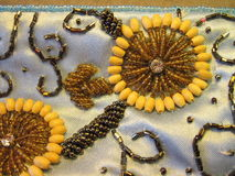 Needlework beads flowers Stock Image