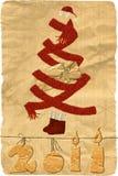 Needlework. Christmas Card Royalty Free Stock Image