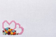 Needlework, cross-stitch Stock Image