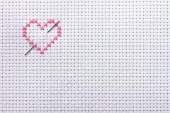 Needlework, cross-stitch Stock Image
