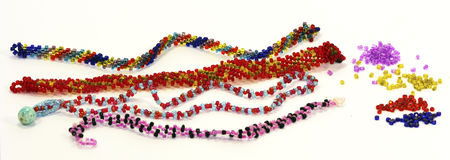 Needlework från pryder med pärlor Royaltyfria Bilder