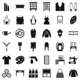 Needlework icons set, simple style. Needlework icons set. Simple set of 36 needlework vector icons for web isolated on white background Stock Image