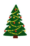 Needlework. Knitted Christmas tree Royalty Free Stock Images