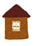 Needlework. knitted house Royalty Free Stock Images