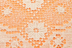 Needlework by Maltese bobbin lace. Vintage knitting craftsmanship - needlework by Maltese bobbin lace Royalty Free Stock Photos