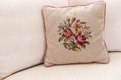 Needlework Pillow Royalty Free Stock Photos