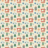 Needlework seamless pattern Stock Photo