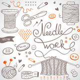 Needlework set royalty free stock photos