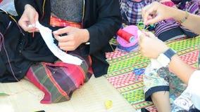 Needlework or Sewing Craft Textiles Handicraft Thai Art stock footage