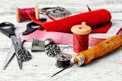 Needlework and sewing Stock Images