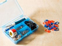 Box with tools for sewing Royalty Free Stock Photography