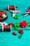 Needlework in spring style Stock Photo