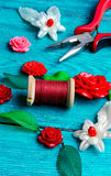 Needlework in spring style Stock Image