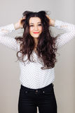 She needs a hair stylist Royalty Free Stock Photos