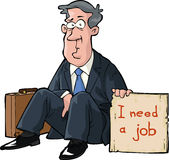 Needs a job. A man needs a job vector Royalty Free Stock Photography