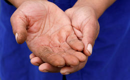 Needy hands Royalty Free Stock Photography