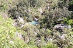 Neelawahn小河和水池山 库存图片