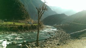 Neelum valley river neelum. Neelum valley kashmir pakistan royalty free stock image