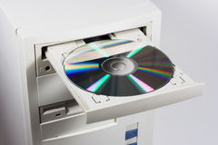 Neem CD of DVD op Stock Foto