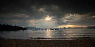 Neem de Mooie Zonsondergang van Tahoe stock fotografie