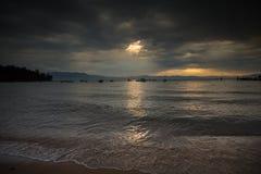 Neem de Mooie Zonsondergang van Tahoe royalty-vrije stock afbeeldingen
