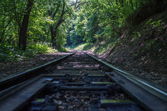 Neem de trein en krijg tot de bovenkant Stock Foto's
