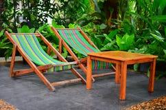 Neem een rust in tuin. Stock Fotografie