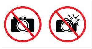 Neem foto's geen symbool en gebruik flits geen symbool royalty-vrije illustratie