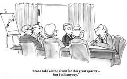 Neem Krediet stock illustratie