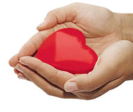 Neem mijn hart Stock Afbeelding