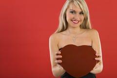 Neem mijn hart Stock Foto