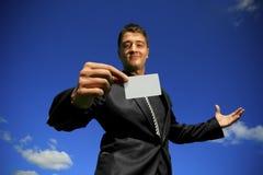 Neem mijn kaart 2 Stock Foto