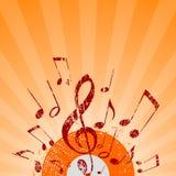 Neem nota stralen van sinaasappel Royalty-vrije Stock Foto's